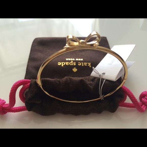 NWT Kate Spade Love Notes Bangle - Gold | Box&Bag